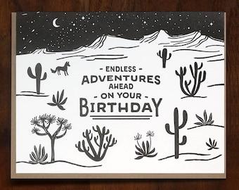 Endless Birthday Adventures Letterpress Card