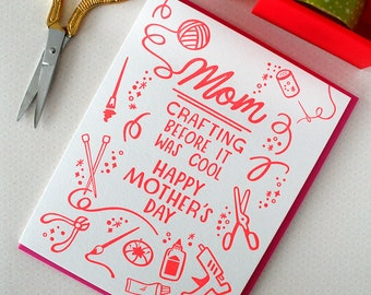 Mother's Day Letterpress Card Crafting Before it was Cool