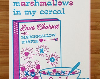 Cereal Love Letterpress Card