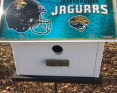 Jacksonville Jaguars Football License Plate NFL Birdhouse Fully Functional White