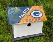 Super Bowl Champs Green Packer License Plate Primitive Birdhouse Football Super Bowl Champs