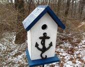 Birdhouse Metal Anchor Hook Primitive Navy Sea Captain