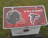 NFL Atlanta Falcons License Plate Primitive Birdhouse Football Birdhouse Handmade wooden unique Birdhouse Recycled