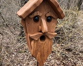 Unique Old Man Birdhouse Primitive Rustic Country Bird House, Garden Birdhouse, Outdoor Birdhouse, Handmade birdhouse.
