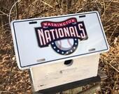 Washington Natonals Worid Champs License Plate Baseball Birdhouse White Fully Functional MLB