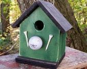 Birdhouse green golf ball and tees