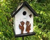 Birdhouse Primitive Rusty Boy Girls Angels Rusty Heart