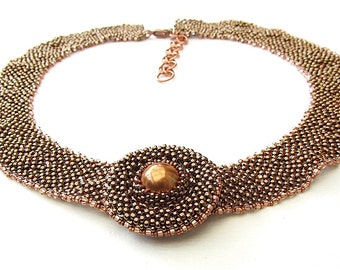 CUSTOM ORDER Single Saxon Collar, Bronze and Copper