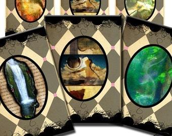 Music & Landscapes Original Art ACEOs ATC Digital Collage Sheet Download No. 25