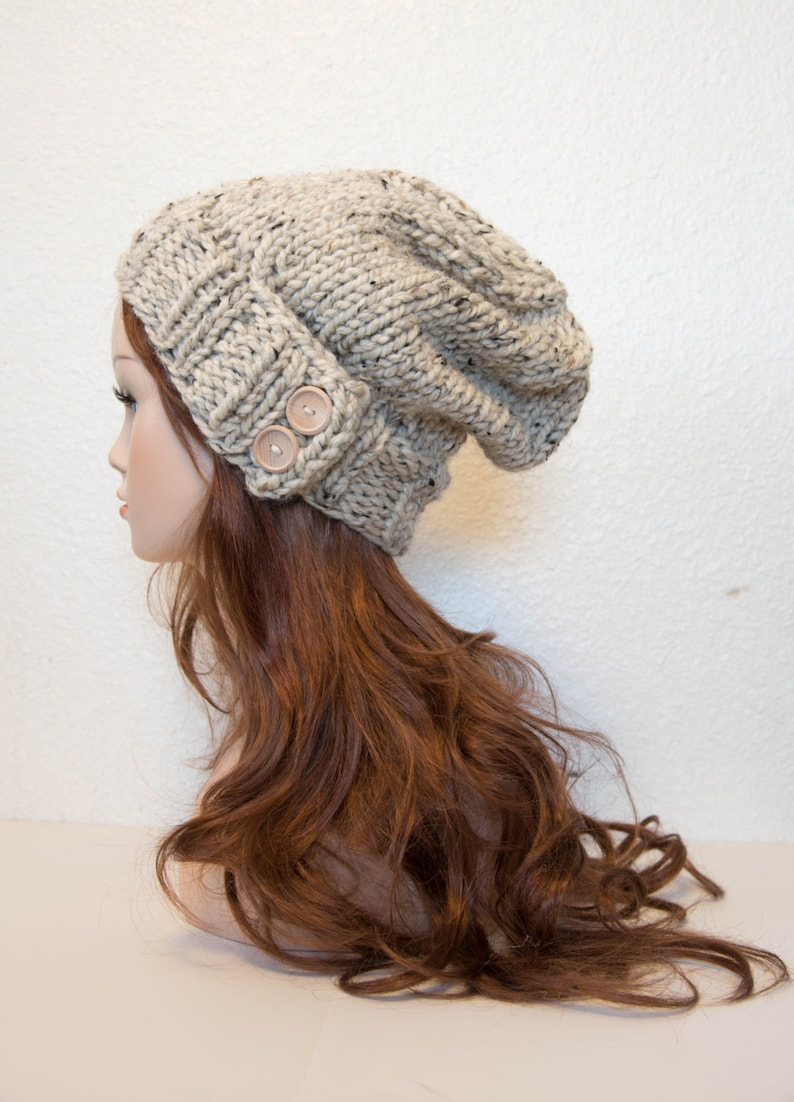 Knit Hat Women Knit Hat Knit Hat Women Slouchy Knit Hat image 0