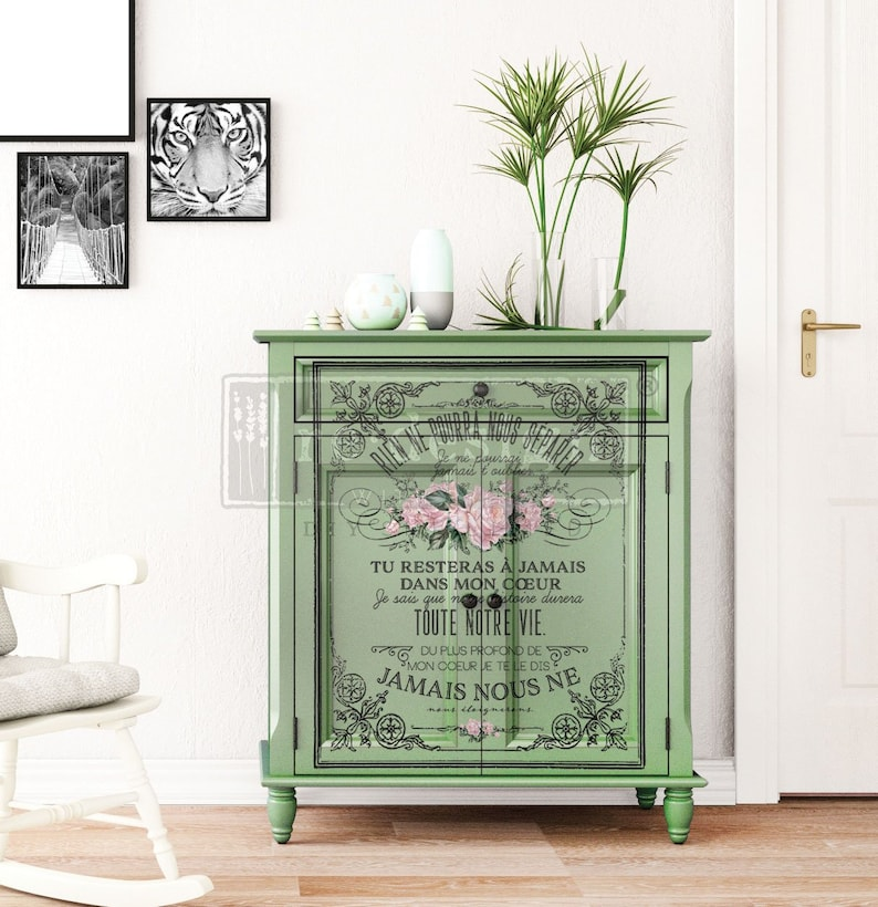 Rub on Transfer 24 by 35 Furniture Transfers ReDesign with Prima Decor Transfer MY HEART Prima Transfer