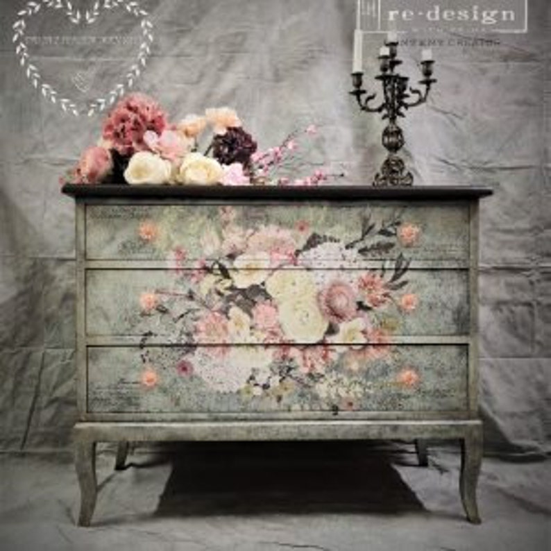 ReDesign with Prima Furniture Transfers LIFE in FULL BLOOM Decor Transfer,