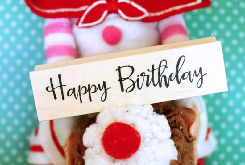 Happy Birthday rubber stamp image 0
