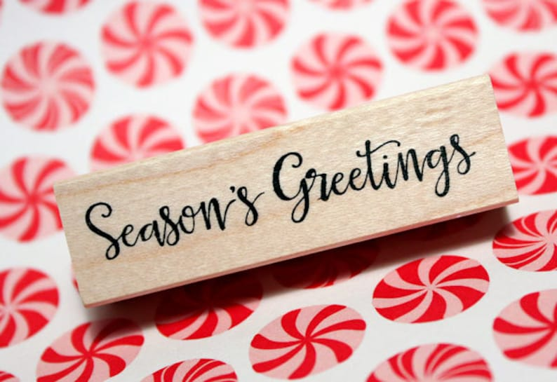 SEASON'S GREETINGS Rubber Stamp image 0