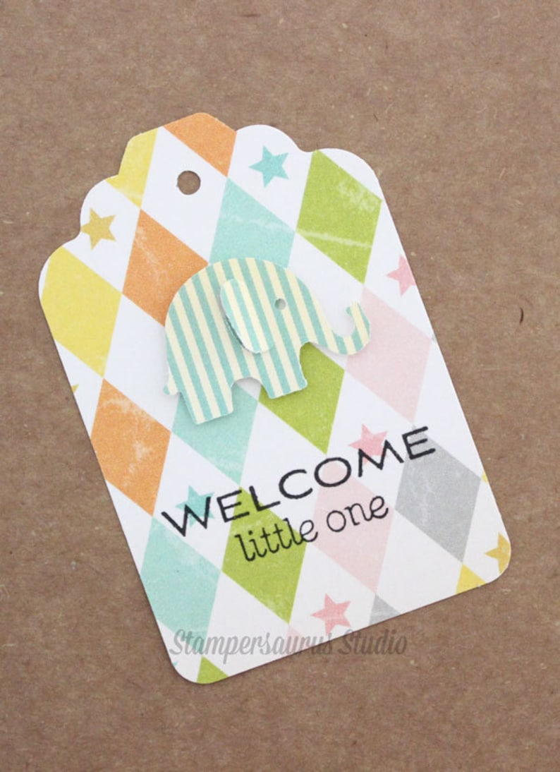 Welcome Little One Rubber Stamp image 0