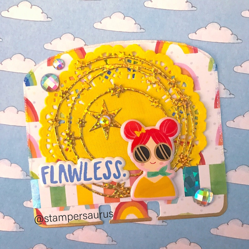 Rainbow Flawless Girly Memorydex Card image 0