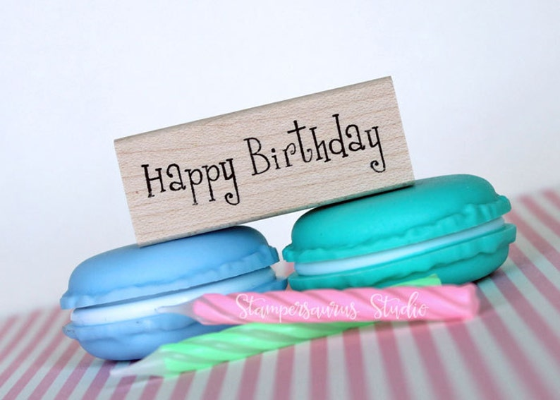 Happy Birthday Rubber Stamp image 0