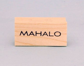 MAHALO Rubber Stamp