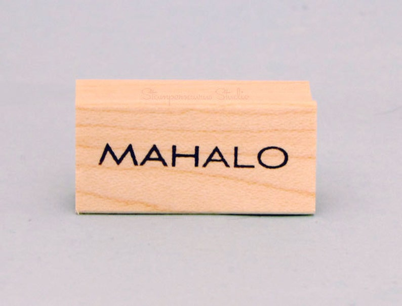 MAHALO Rubber Stamp image 0