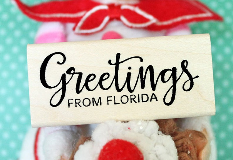GREETINGS FROM FLORIDA Rubber Stamp image 0