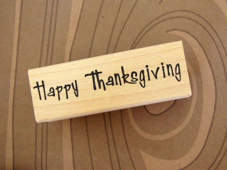 RUBBER STAMP  Happy Thanksgiving image 0