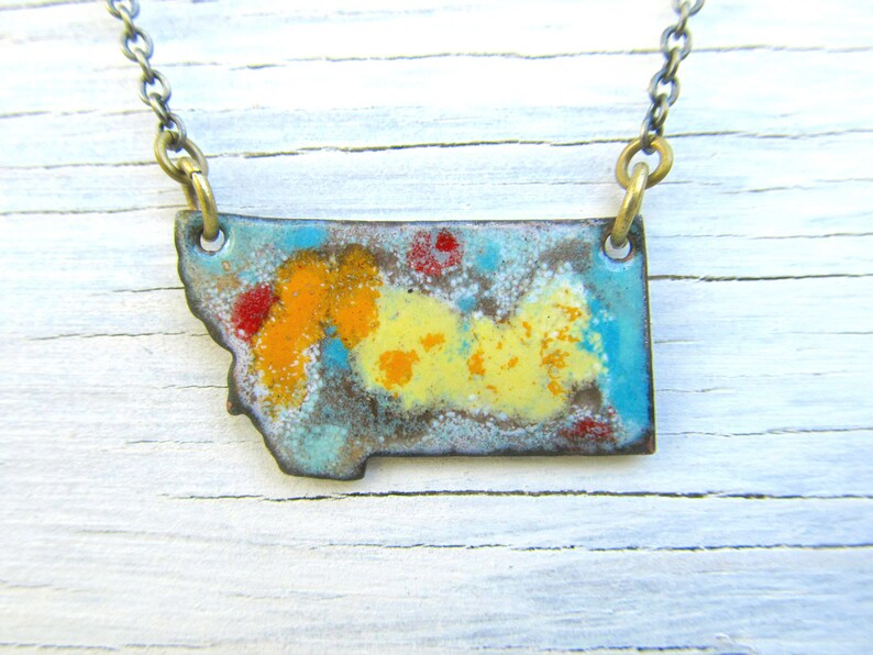 Montana necklace MT enamel jewelry Yellow Abstract image 0