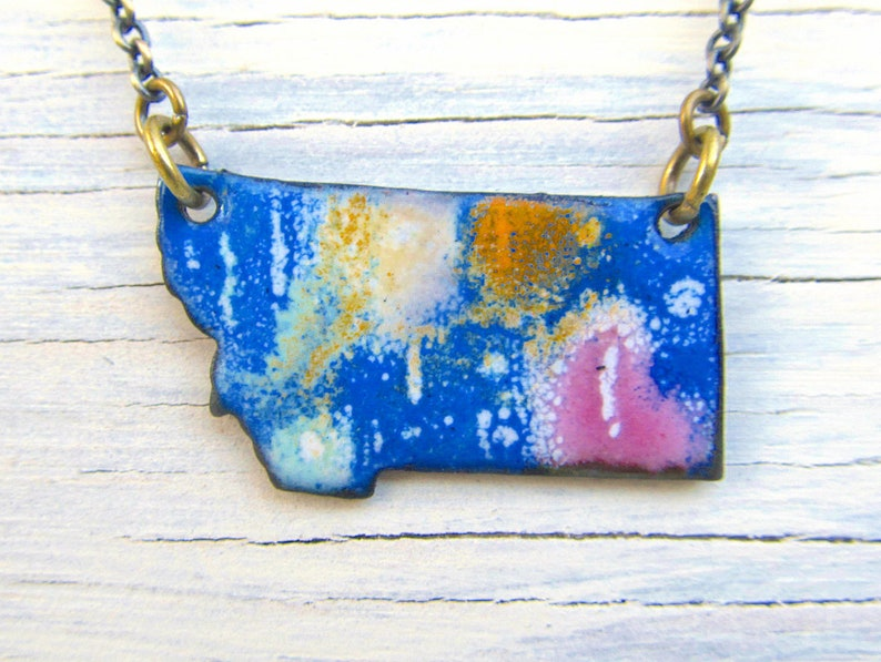 Montana necklace MT enamel jewelry Abstract Art image 0
