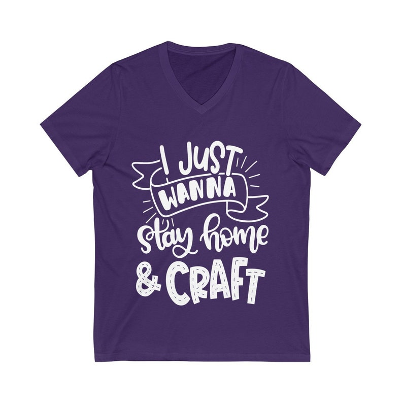 I Just Wanna Stay Home And Craft Knitting Shirt Craft Room image 0