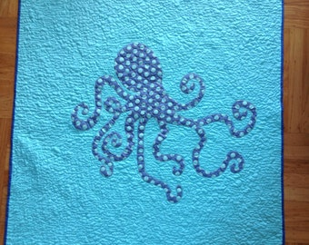 Unique Octopus Baby Quilt