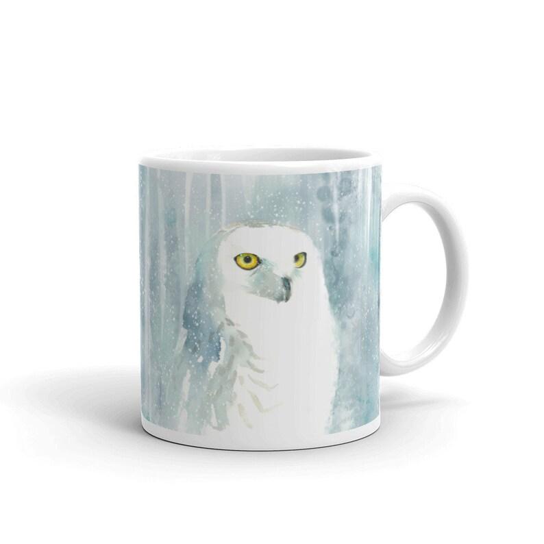 Snowy Owl Ceramic Mug image 0