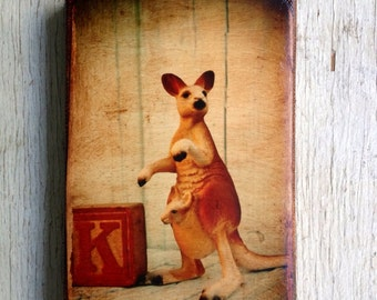 Vintage Toy K is for Kangaroo  Art/Photo - Wall Art 4x6