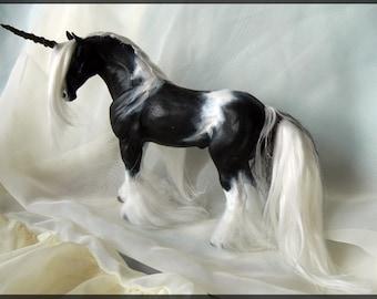 OOAK Gypsy Vanner Unicorn Sculpture Fantasy doll by Janine H