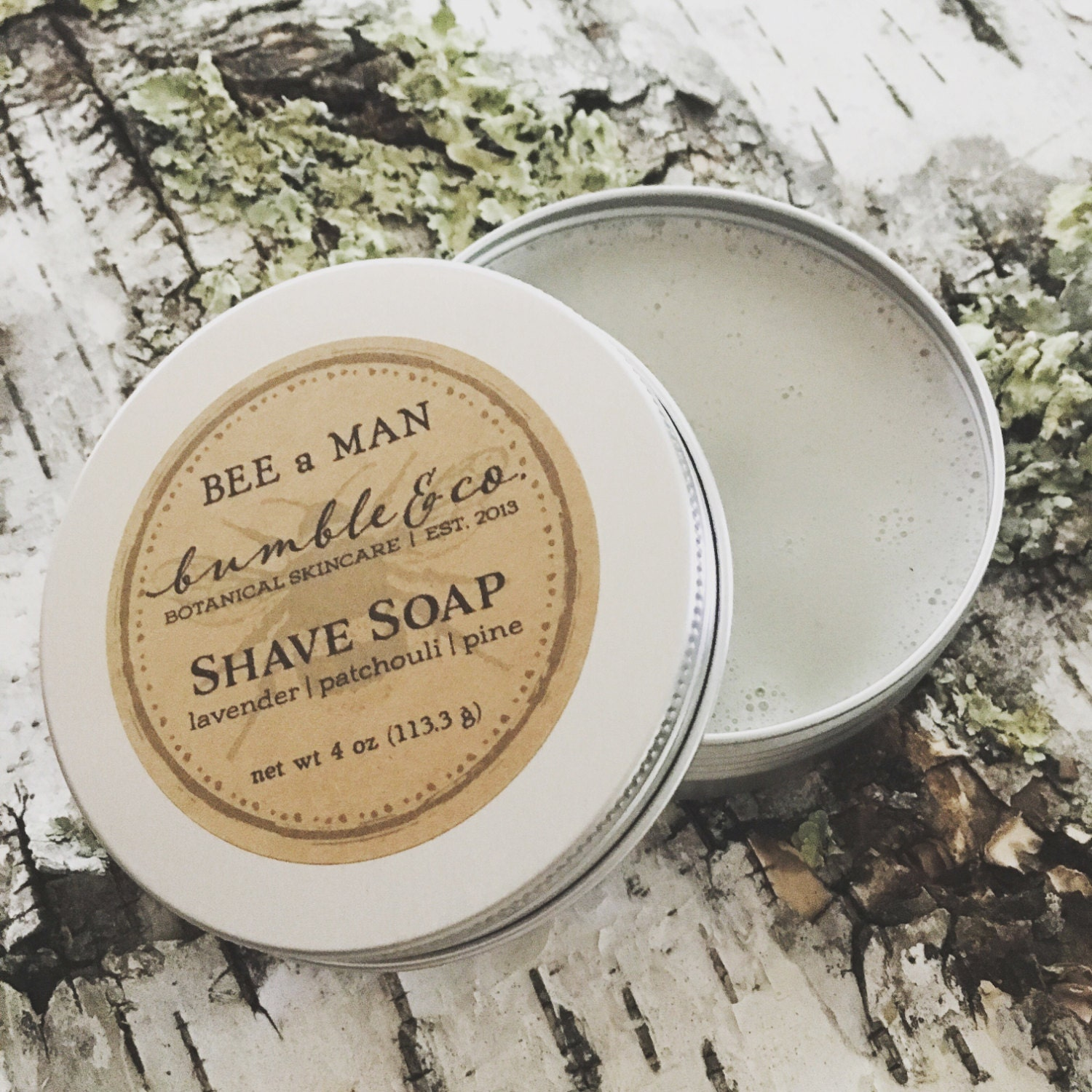 Natural Shave Soap | Shaving Soap | Shave Gift | Wet Shave Products | Vegan Shaving Soap | Mens Shave Soap | Mens Grooming | BEE a MAN soap