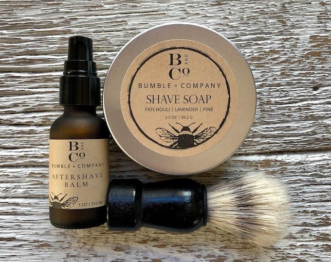 Shaving Set   Wet Shaving Kit   Christmas Grooming Gift Set   Men's Gift   Shave Soap   Aftershave   Mens Shave Kit   Shaving Gift For Him