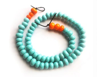 Light blue and orange assorted spacers