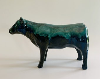 Extremely RARE Blue Mountain Pottery Heifer Cow Steer Vintage