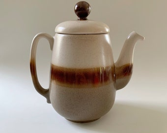 Beauceware Ceramic Coffee Teapot Tritone Glaze with Lid Earth Tones Vintage