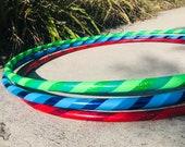 Beginner Hula Hoop // Triple Threat Dance Hoop // Handmade Fitness Hoop