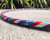 Beginner Hula Hoop // Rainbow Dance Hoop // Handmade Fitness Hoop