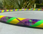 Hippie Dippy Tie Dye Dance Hoop // Beginner Hula Hoop // Handmade Fitness Hoop