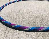 Tie Dye Silver Sparkle Hula Hoop // Handmade Fitness Hoop // Beginner Hula Hoop
