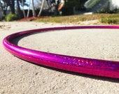 Raspberry Sequin Polypro Hoop // Choose Your Tubing & Diameter!