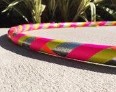Beginner Hula Hoop // Silver Glitter & Neon Dance Hoop // Handmade Fitness Hoop