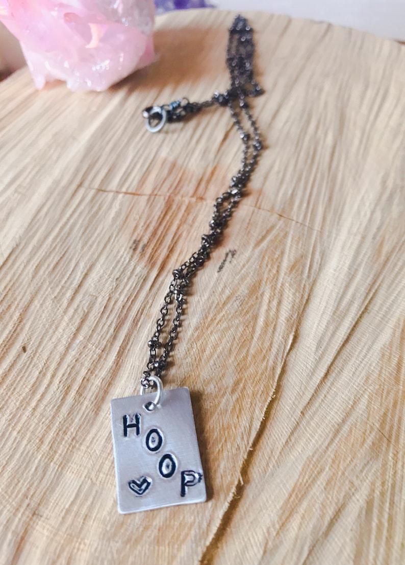 Hoop Love Necklace // Hula Hooper Necklace image 0