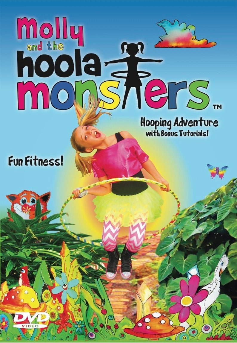 Kids Hula Hooping DVD // Molly and the Hoola Monsters DVD // image 0