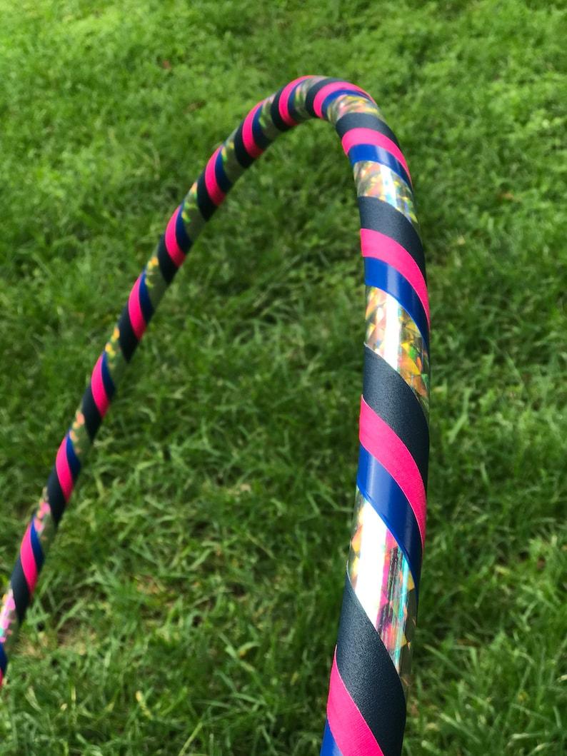 Blue and Pink Beginner Prism Hula Hoop // Choose Your Diameter image 0