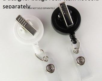 Add an Alligator Clip badge reel OPTION to an already purchased designer badge reel- one color choice only This item is NOT sold SEPARATELY