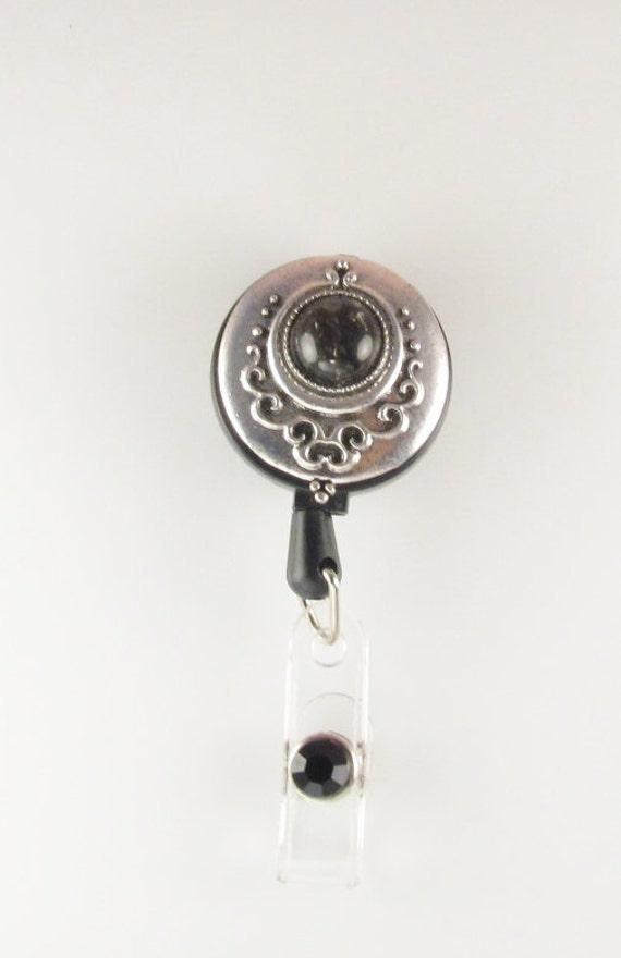 Sweet Owl Moonlight Night Retractable Reel Chrome Badge ID Card Holder Clip
