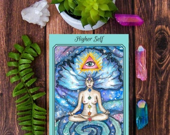 Visionary Art Surreal Mini Art Print ACEO Southwestern Art Spiritual Art Meditation Art Spirit Guide Goddess Art Psychedelic Art Sacred Art