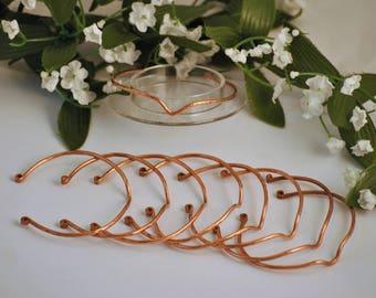 Cape cod wave bracelet - Hammered copper bracelet - Stack-able bracelet - Copper wire bracelet- Recycled copper bracelet